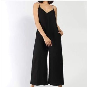 Ali Golden V-Neck Jumpsuit